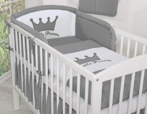 Bedding set 3pcs- Little Prince/Princess anthracite